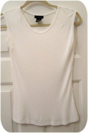 White Rib Soft Cap Sleeve Summer T Shirt FREE SHIP