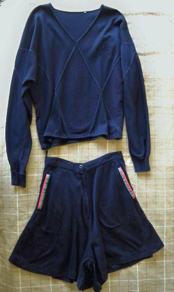 Authentic Gucci Two Piece Black Cotton Skort and Top Set Size 42 (12)