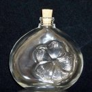 Glass Perfume Bottle with Hibiscus - cork stopper - FREE SHIP