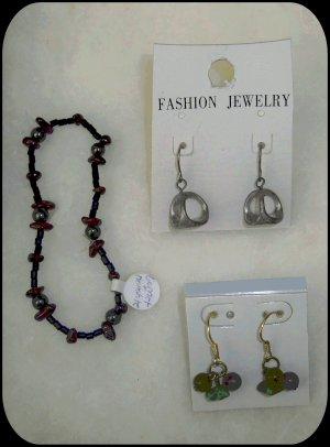 Mixed Lot of Fashion Jewelry - Earrings Bracelet