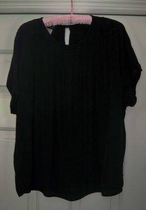 Carole Little Black Pleated Suit Blouse Size 8 FREE SHIP