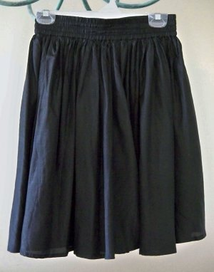 Black Silk Short Skirt Size Medium FREE SHIP