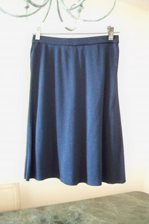 Knit Navy Liz Claiborne Skirt Elastic Waistband Size Medium FREE SHIP