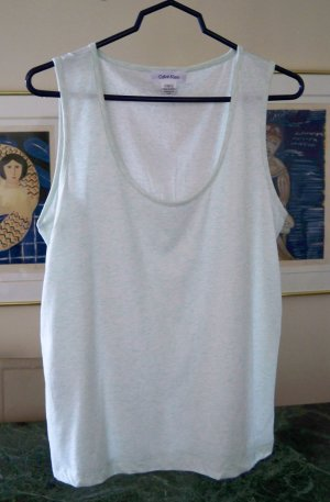 Calvin Klein Variegated Green Cotton Tank Top Size Large