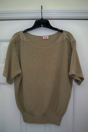 Mondi 2 piece vintage outfit - Knit Top Culottes - Tan Medium