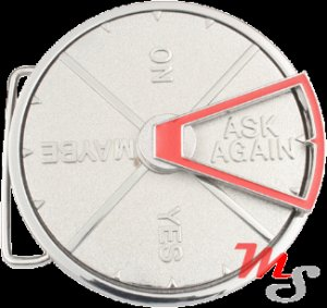 Spinning magic answer Belt Buckle
