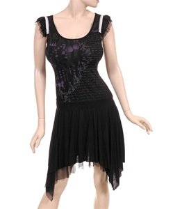 Super Fun Black Asymetrical Dress