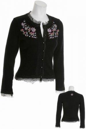 Black Shabby Chic Sweater