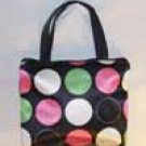 Large Polka Dot Mini Purse or Makeup Bag