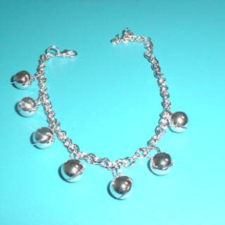 Silver Toned Bell Anklet
