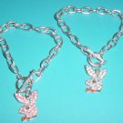 Crystal Playboy Bunny Toggle Bracelet