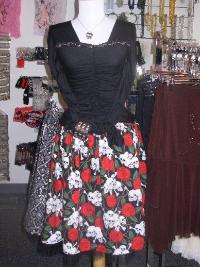 Skull and Roses Skirt Tulle lined