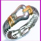Cable Bracelet with Buckle Clasp