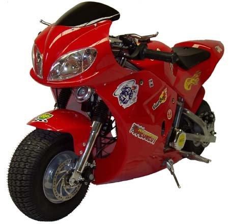 Red X-Treme Scooters XP-490 Rice Rocket Gas Pocket Bike