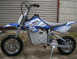 Blue X-Treme Scooters XM-500e Electric Dirt Bike 500 watt 36 volt