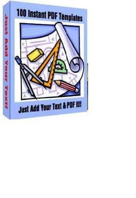 EBOOK 100 Instant PDF Templates + FREE SHIPPING Digitally Delivered