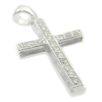 925 Sterling  Silver White CZ  Pendent
