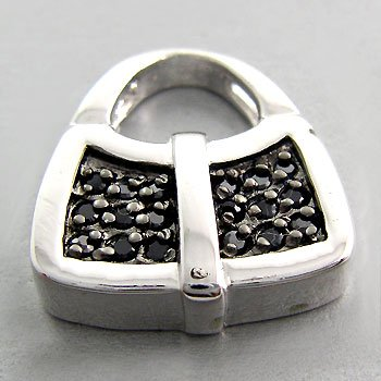 925 Sterling Silver With Black CZ Pendant