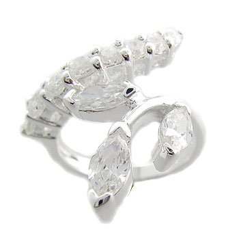 925 Sterling Silver With White CZ Ring size 6