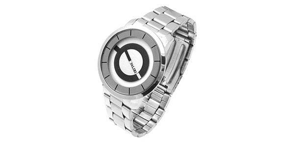 Circle of life metallic silver mens watch