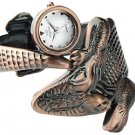 Silvery Dial Ladies' Bangle Watch w. Crocodile Alloy Design Free Shipping