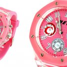 Fashion Jewelry Cool Style Casual Sport Watches w/ Backlight- Pink Free Shipping
