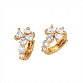 Beautiful 18K Gold Plated CZ Cubic Zirconia Earrings Free Shipping