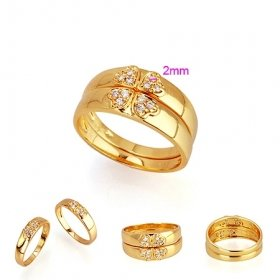Beautiful 18K Gold Plated CZ Cubic Zirconia Ring set size 9 Free Shipping