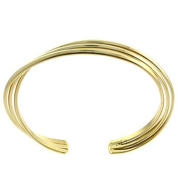 Free Shipping 14K French Gold Plated 2 Micron Bangle Costume Jewelry