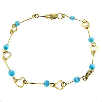 Free Shipping 4K French Gold Plated 2 Micron Bracelet Costume Jewelry