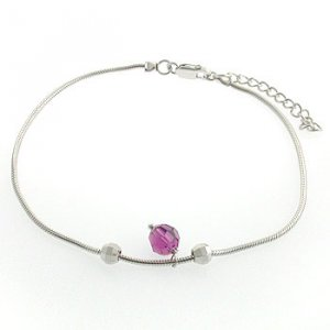 Free Shipping 25 Sterling Silver with Crystal CZ Bracelet/Anklet