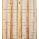 4 Panel Shoji Room Divider Natural