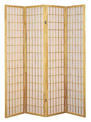 4 Panel Shoji Room Divider Natural