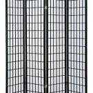 4 Panel Shoji Room Divider Black