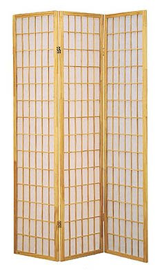 3 Panel Shoji Room Divider Natural