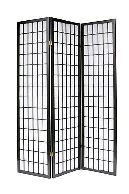 3 Panel Shoji Room Divider Black