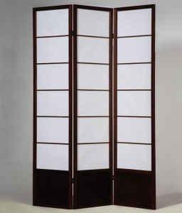 3 Panel Shoji Room Divider Shogun Expresso Finish