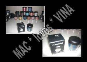 MAC Eye Pigment * STEEL BLUE * 1/2 sample - $ave Pigments