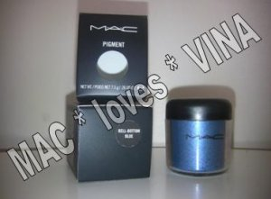 MAC Pigment * BELL-BOTTOM-BLUE * 1/2 sample - $ave Pigments
