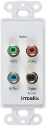 Intelix AVO-V3AD-WP Component Video/Digital Audio Wallplate