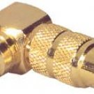 Gold RCA Right Angle Adapter Long