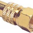 "Gold RCA Jack To ""f"" Plug Adapter"