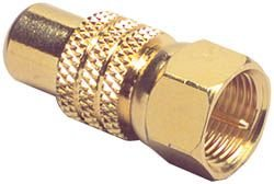 """Gold RCA Jack To """"f"""" Plug Adapter"""