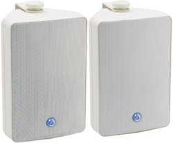 "Atlas Sound SM52-W 5-1/4"" 2-Way Speaker Pair White 8 Ohm"