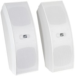 Dayton IO430WT Commercial 70V 3-Way Speaker Pair White
