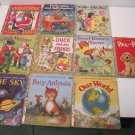 Vintage Lot Of 10 Golden Books 1950's