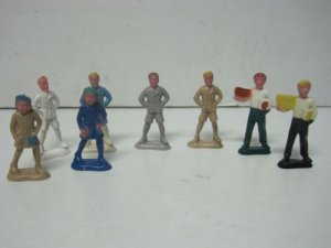 Vintage Beton Lot of 8 Plastic School Kids Antique