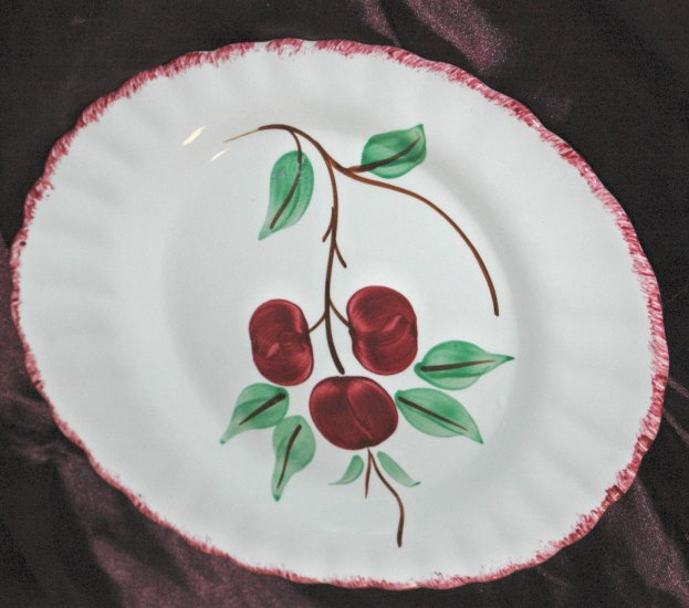 BLUE RIDGE Southern Potteries Inc. CHERRY BOUNCE Hand Painted Dinner Plate