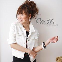 A2291 white korean sweet jacket
