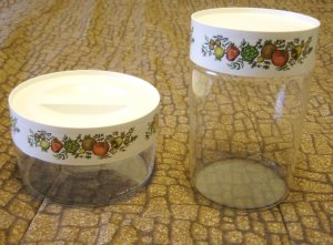 70's Pyrex Spice of Life Storage Container Set w/ Lids